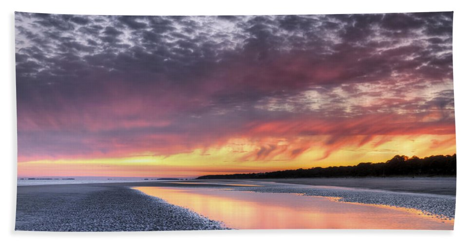 Beach Beach Towel featuring the photograph Same Night Six Thirteen Pm by Phill Doherty