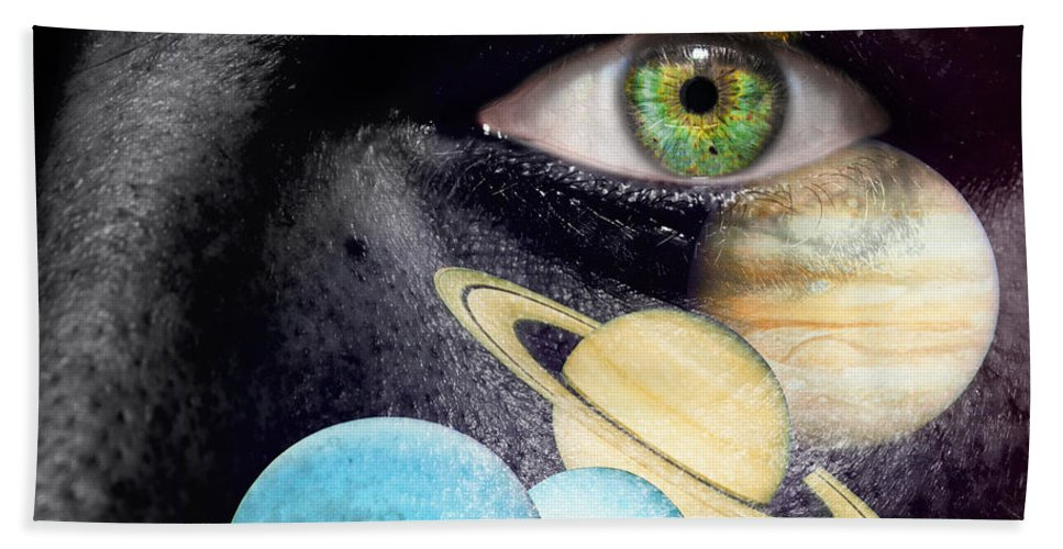 Art Beach Towel featuring the photograph Same Universe by Semmick Photo