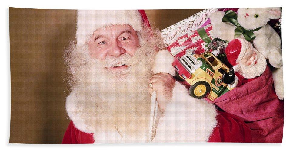 Santa Beach Towel featuring the photograph Santa Claus by Photo Researchers, Inc.