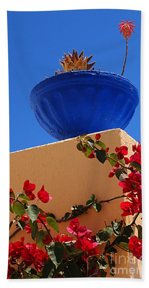 Santorini Beach Towel featuring the photograph Santorini Vignette by Bob Christopher