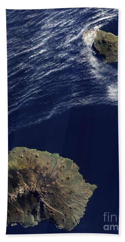 Marion Island Beach Towel featuring the photograph Satellite View Of The Prince Edward by Stocktrek Images