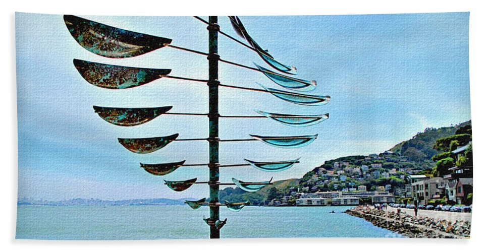 Sausalito Beach Towel featuring the photograph Sausalito Coast by Joan Minchak