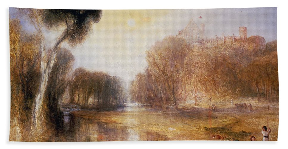 Schloss Rosenau Beach Towel featuring the painting Schloss Rosenau by Joseph Mallord William Turner