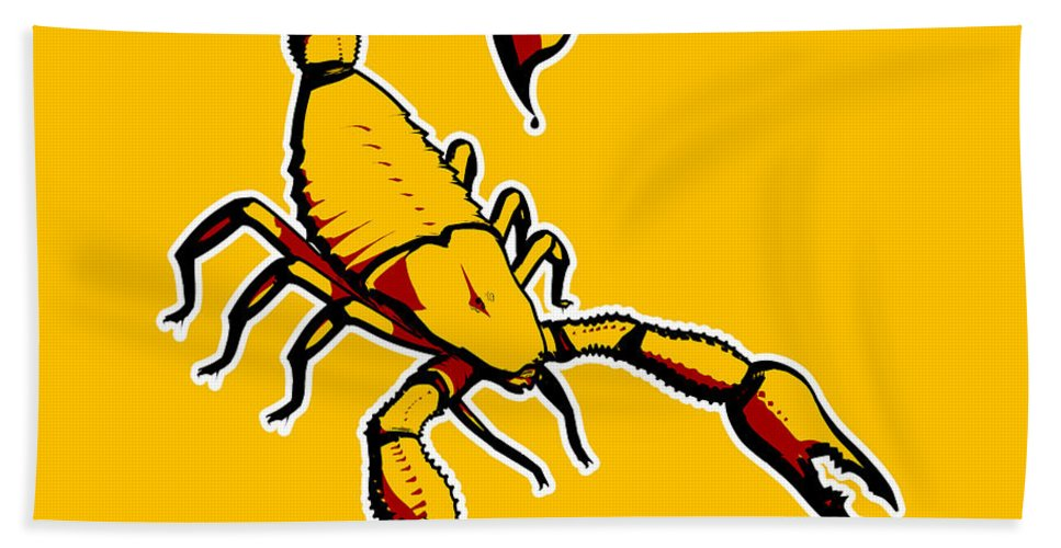 Banksy Beach Towel featuring the photograph Scorpion Graphic by Pixel Chimp