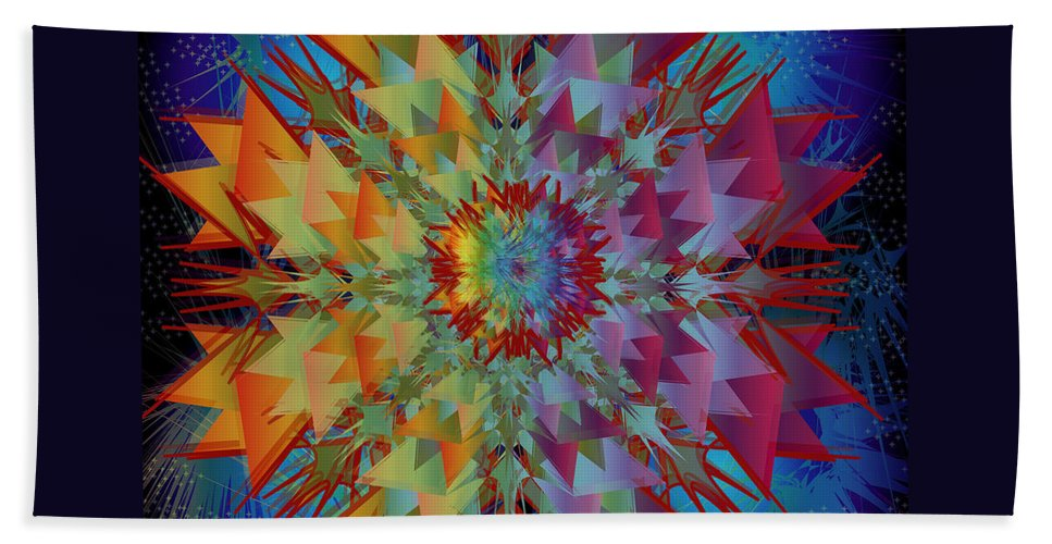 Flower Beach Towel featuring the digital art Sculpted Flower by George Pasini