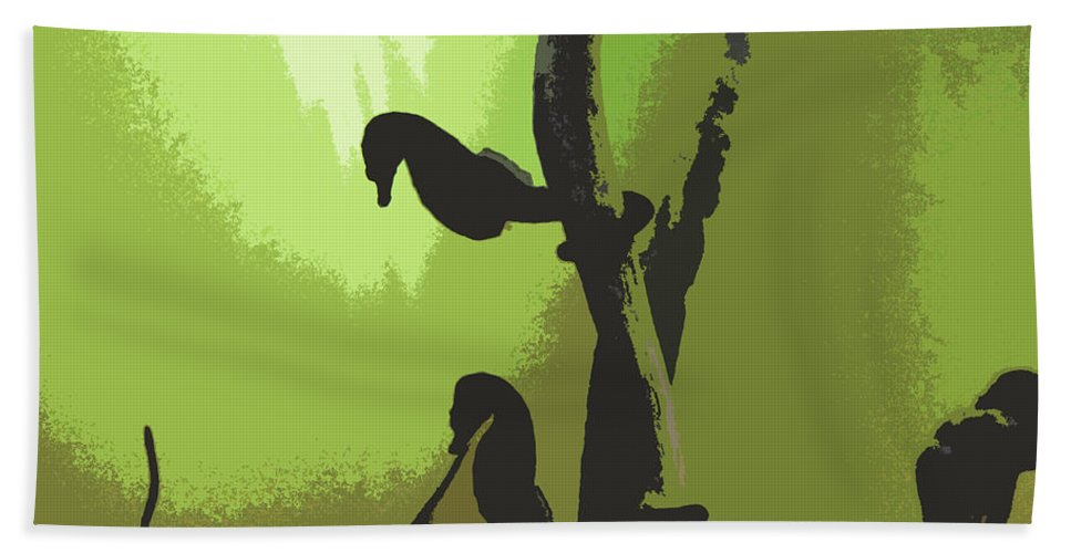 Sea Horses Beach Towel featuring the photograph Sea Horses by James Hill