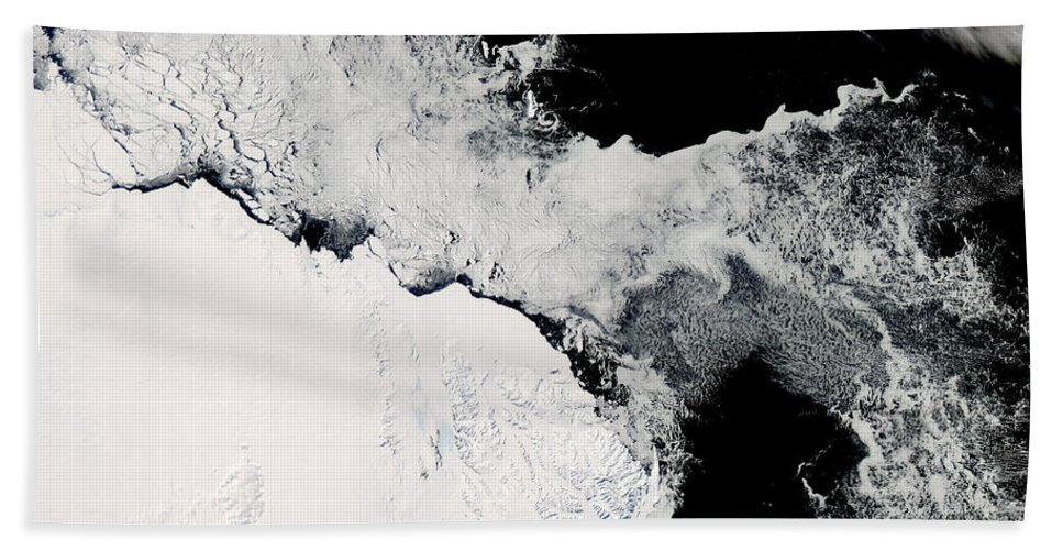 Outdoors Beach Towel featuring the photograph Sea Ice In The Southern Ocean by Stocktrek Images
