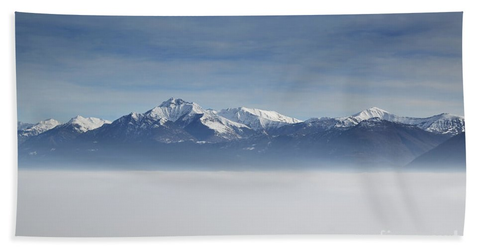 Sea Of Fog Beach Towel featuring the photograph Sea Of Fog by Mats Silvan