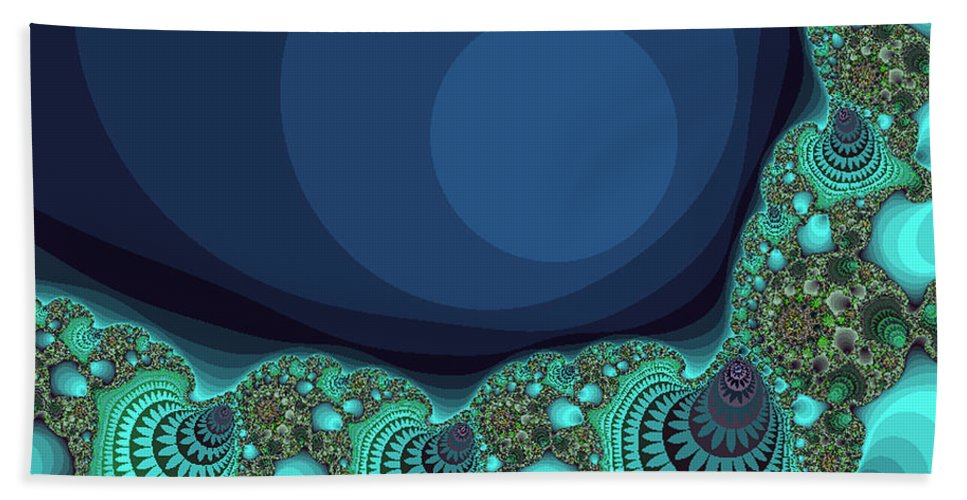 Fractal Beach Towel featuring the photograph Seashells By The Sea Fractal by Mother Nature
