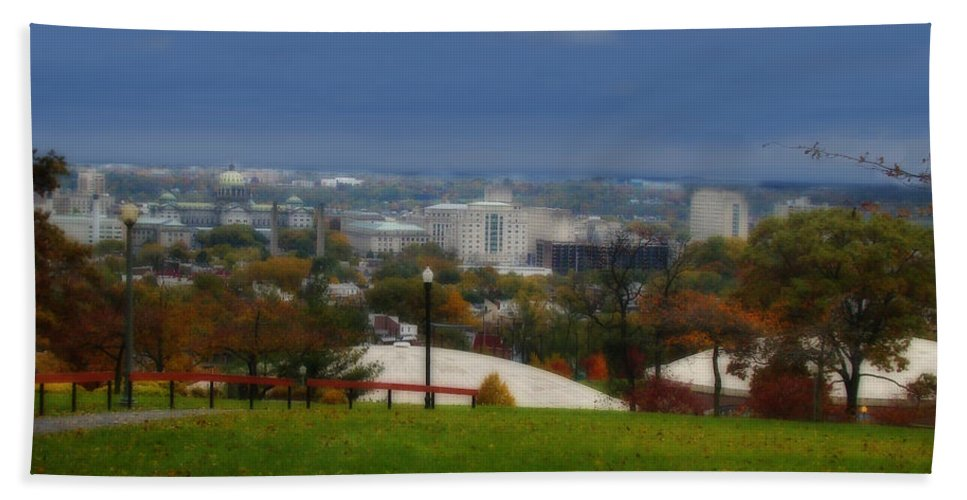 Harrisburg Beach Towel featuring the photograph Season Of Change by Shelley Neff