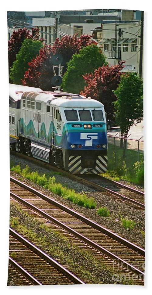 Trains Beach Towel featuring the photograph Seattle Sounder Train by Randy Harris