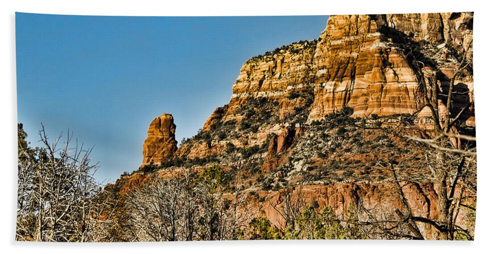 Sedona Arizona Beach Towel featuring the photograph Sedona Arizona Xi by Jon Berghoff