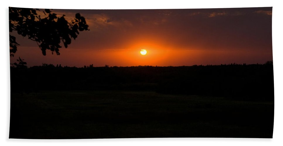 Sunset Beach Towel featuring the photograph September Sunset by Joanne Smoley