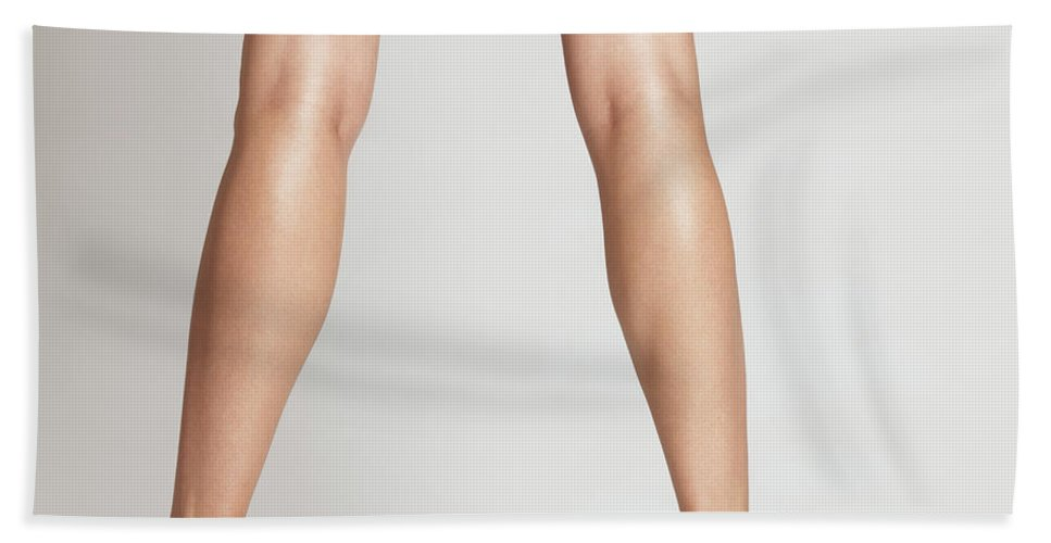 Legs Beach Towel featuring the photograph Sexy Long Legs by Oleksiy Maksymenko