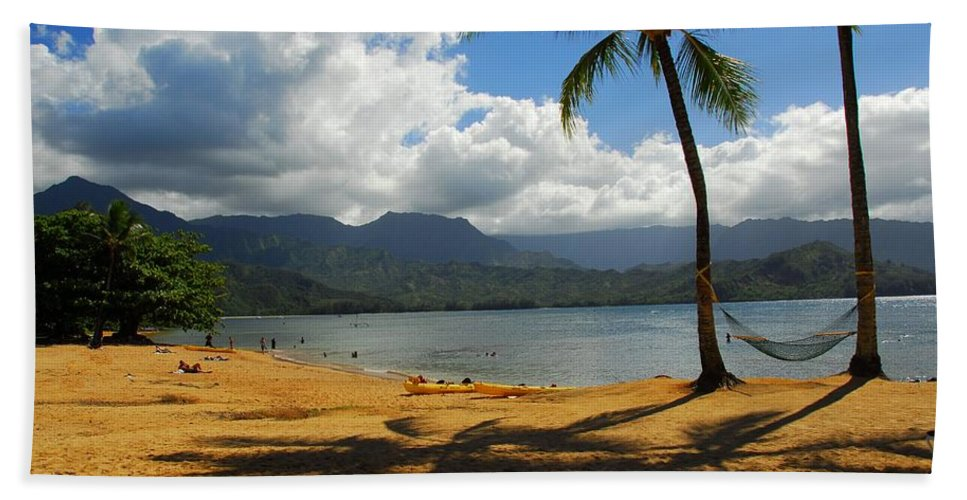 Tropical Beach Towel featuring the photograph Shadows In The Sand by Lynn Bauer