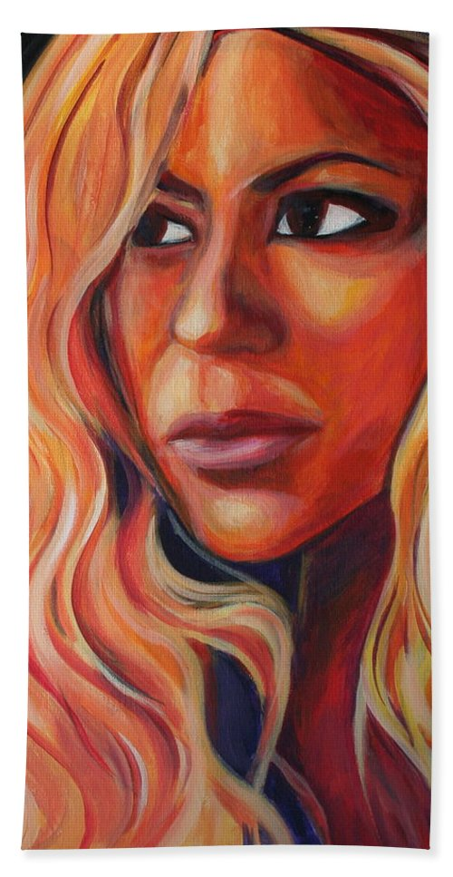Beach Sheet featuring the painting Shakira by Kate Fortin