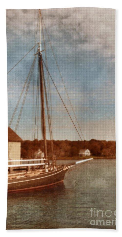 Ship Beach Towel featuring the photograph Ship At Dock by Jill Battaglia