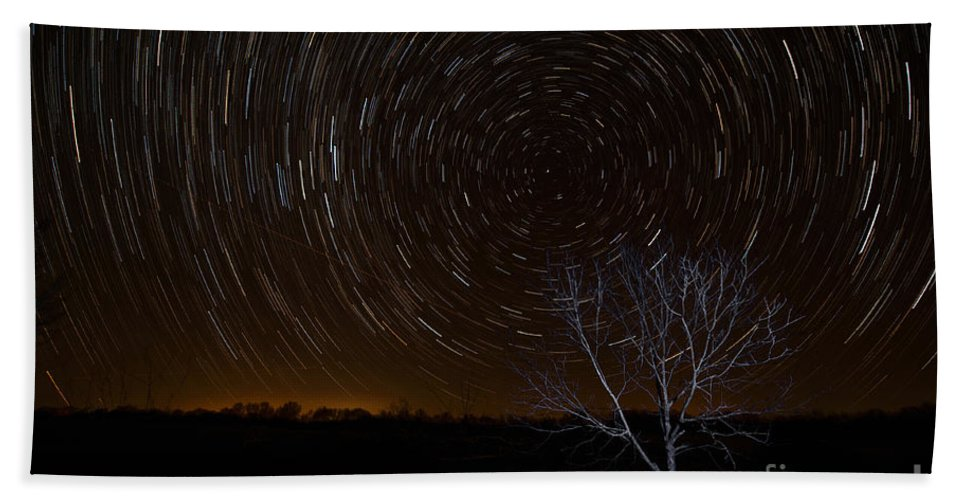 Star Trails Beach Towel featuring the photograph Shooting Stars by George Buxbaum
