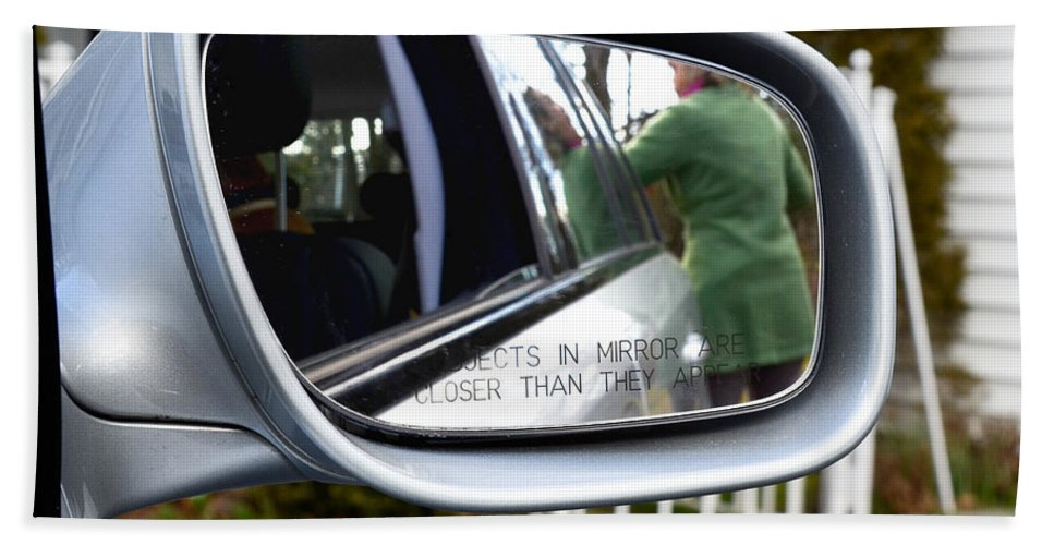 Accident Beach Towel featuring the photograph Side View Mirror by Photo Researchers