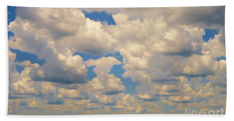 Cloud Beach Towel featuring the photograph Sittin On The Dock Of The Bay by Art Dingo