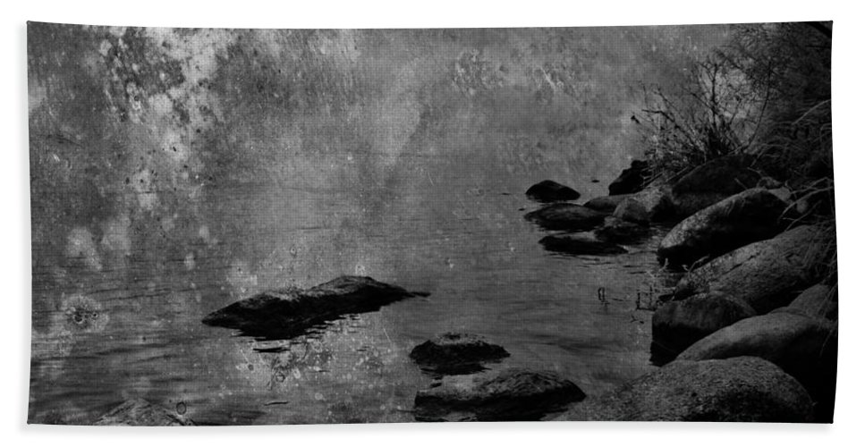 : Jerry Cordeiro Photographs Photographs Photographs Beach Towel featuring the photograph Skippin Rock by The Artist Project