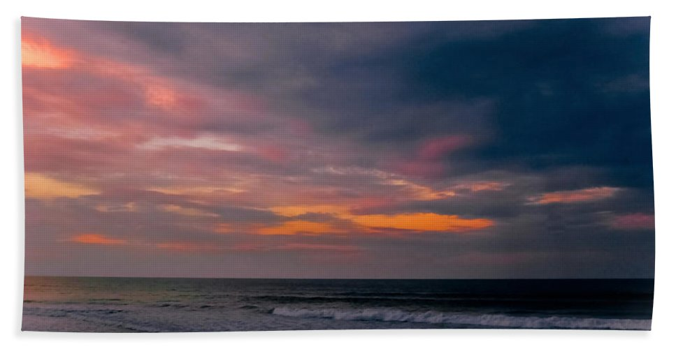 Sunset Beach Towel featuring the photograph Sky Of Pastels by DigiArt Diaries by Vicky B Fuller