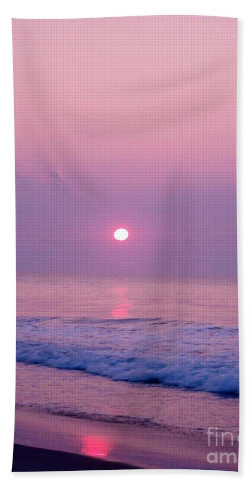 Sunrise Beach Towel featuring the photograph Slither Sun by Art Dingo