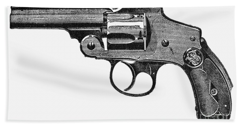 19th Century Beach Towel featuring the photograph Smith & Wesson Revolver by Granger