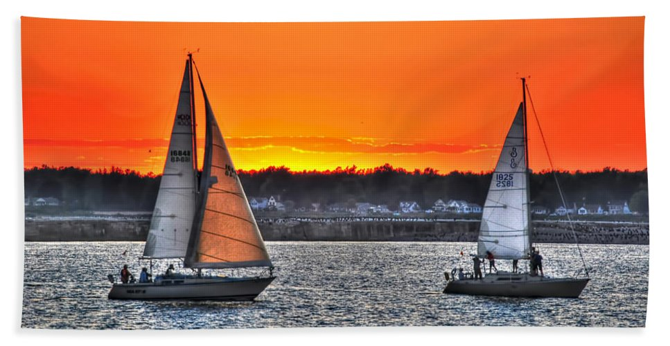 Beach Towel featuring the photograph Smooth Sailing by Michael Frank Jr
