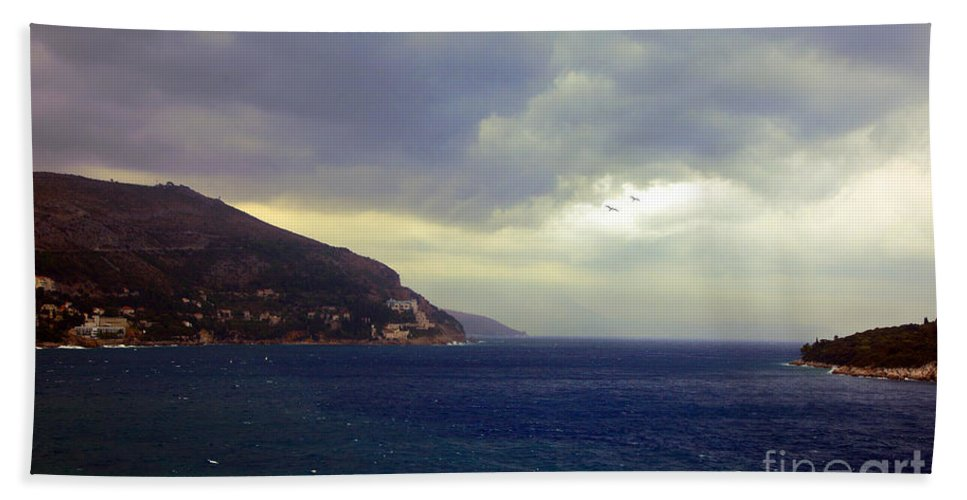 Seascape Beach Towel featuring the photograph Somewhere Beyond The Sea 1 by Madeline Ellis