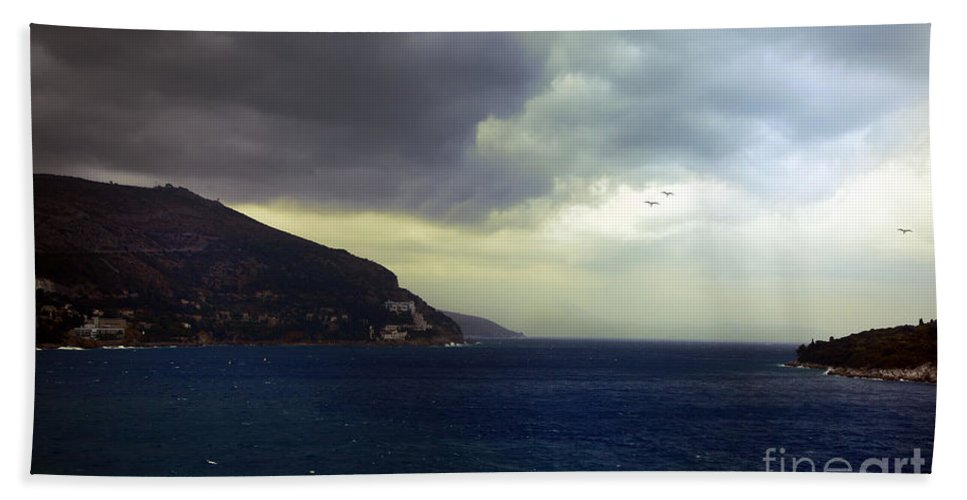 Seascape Beach Towel featuring the photograph Somewhere Beyond The Sea 2 by Madeline Ellis