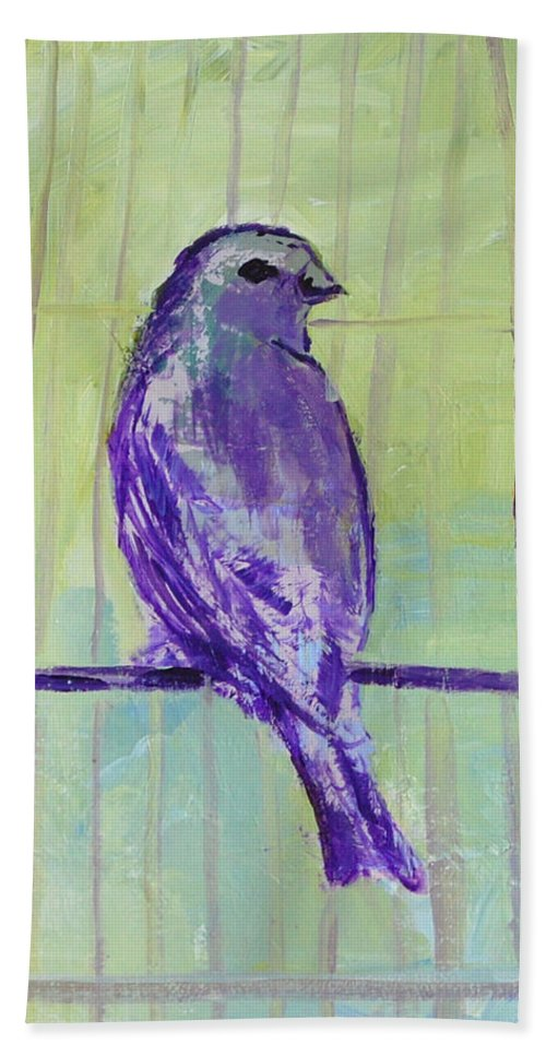 Bird Beach Towel featuring the painting Songbird by Melissa Peterson
