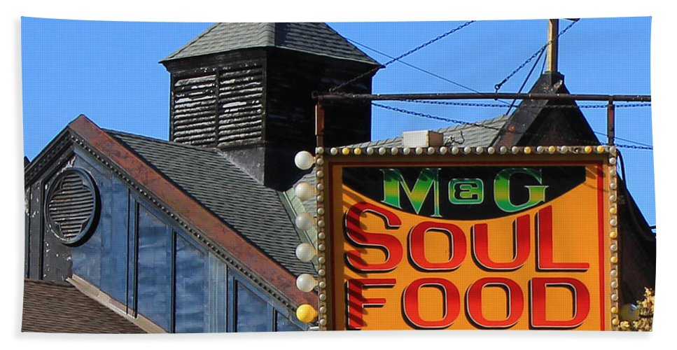 New York Beach Towel featuring the photograph Soul Food by Andrew Fare