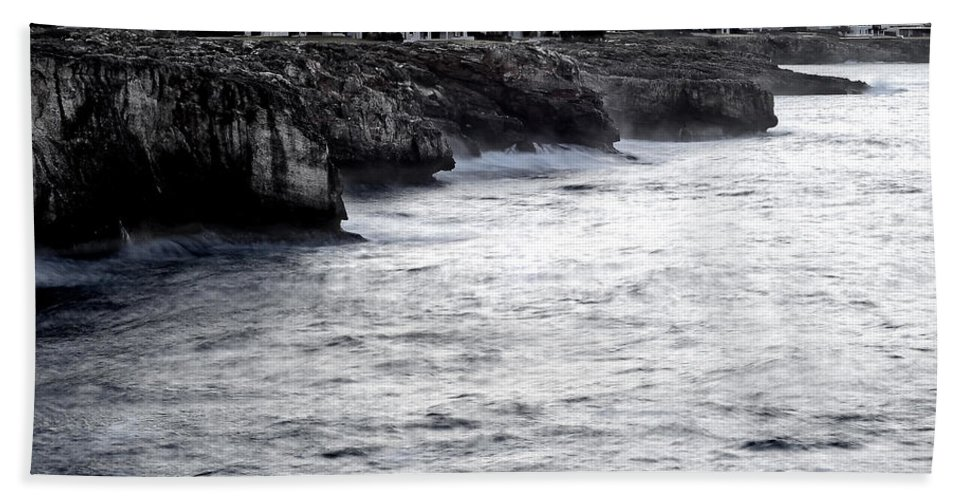 Outside Beach Towel featuring the photograph Menorca South Coast In A Stormy Mediterranean Day by Pedro Cardona Llambias