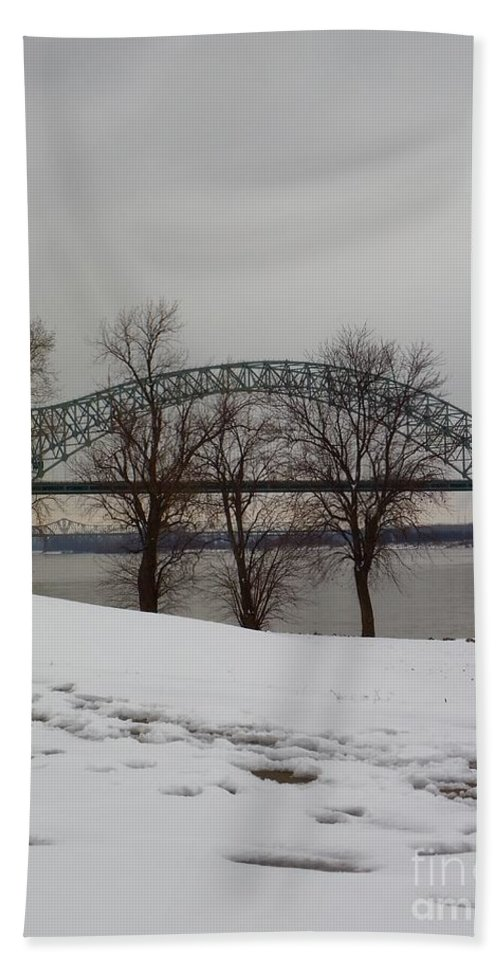 Bridge Beach Towel featuring the photograph Southern Snow by Charleen Treasures