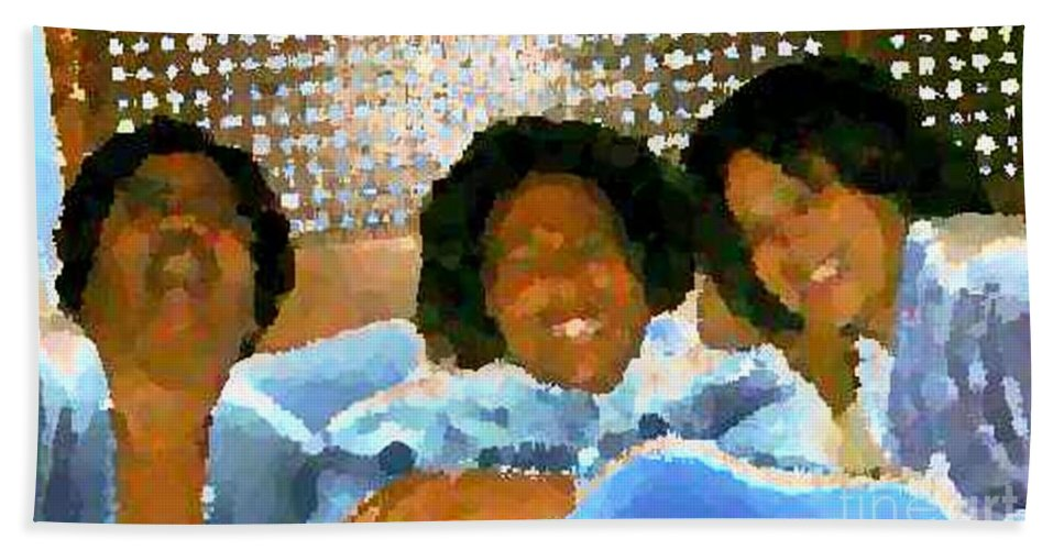 Women Beach Towel featuring the photograph Spa Divas by Angela L Walker