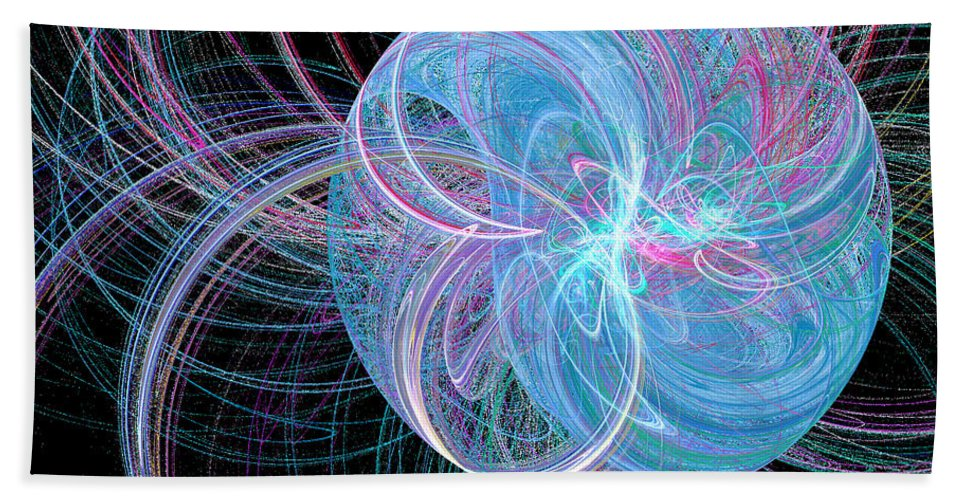 Apophysis Beach Towel featuring the digital art Spherical Symphony by Kim Sy Ok