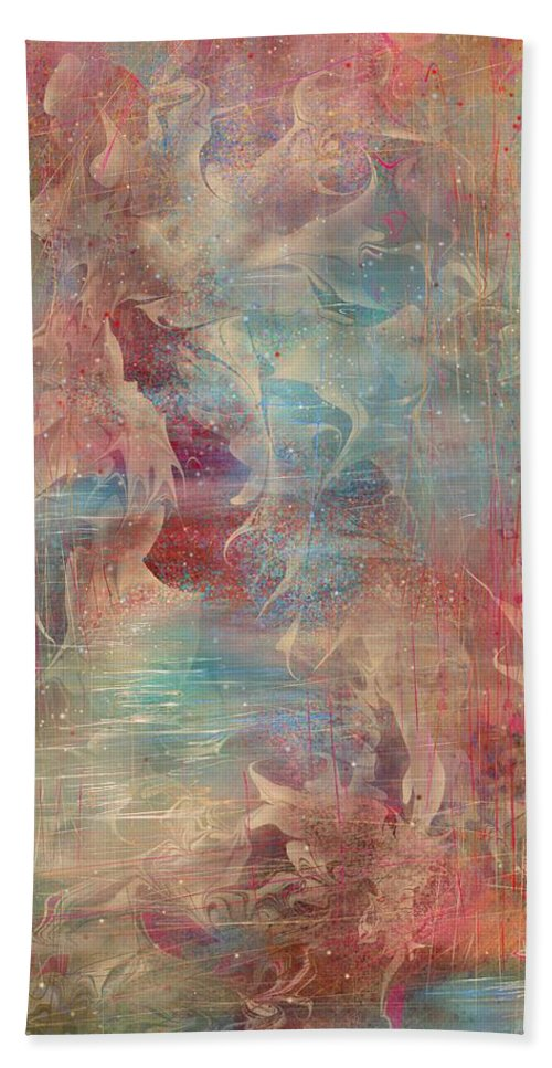Spirit Beach Towel featuring the painting Spirit Of The Waters by Rachel Christine Nowicki