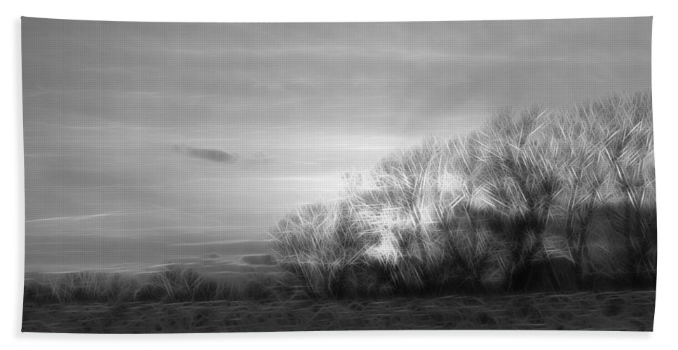 Trees Beach Towel featuring the digital art Spirit Trees Sparkle by Rhonda Barrett