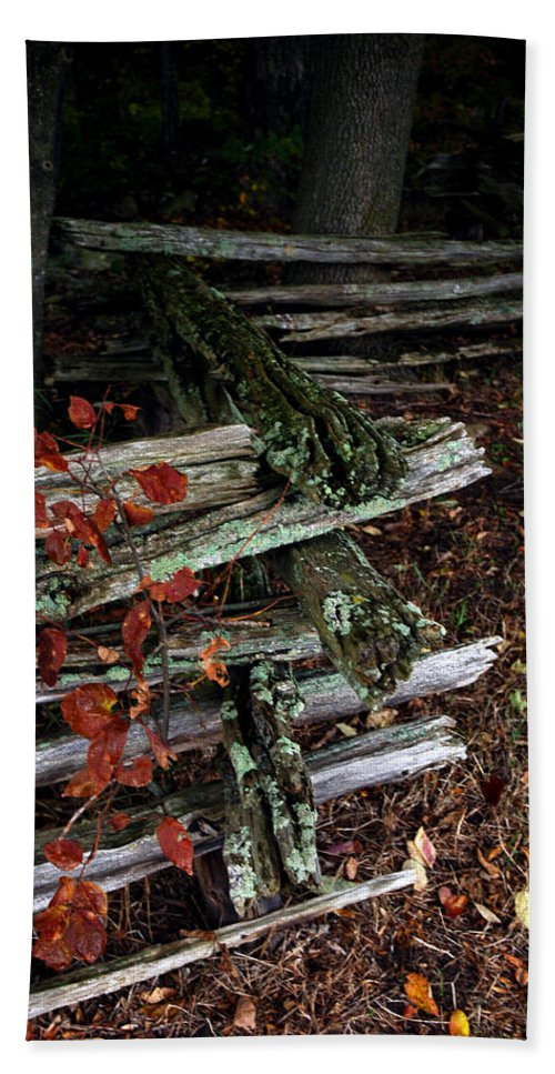 Usa Beach Towel featuring the photograph Split Rail Fence by LeeAnn McLaneGoetz McLaneGoetzStudioLLCcom
