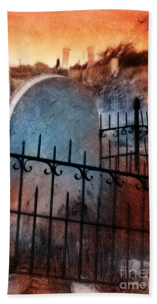 Virginia City Beach Towel featuring the photograph Spooky Grave by Jill Battaglia