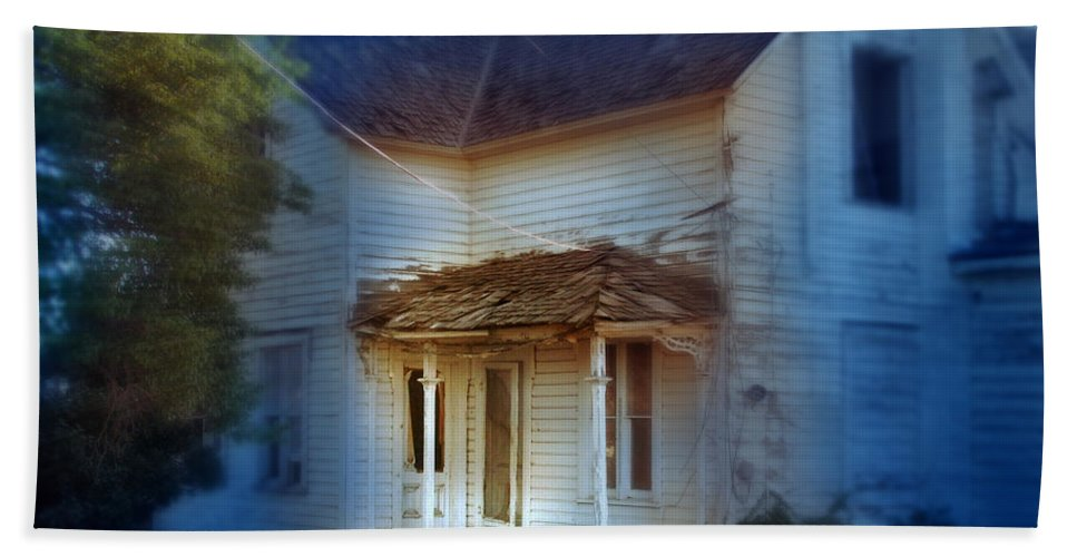 Spooky Old House Beach Towel featuring the photograph Spooky Old House by Jill Battaglia