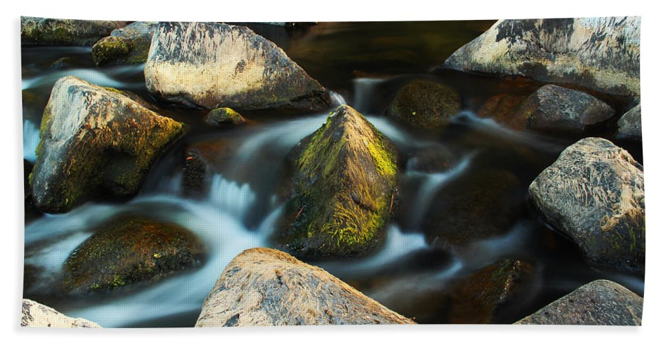 St Francis River Beach Towel featuring the photograph St Francis River At Dusk II by Greg Matchick