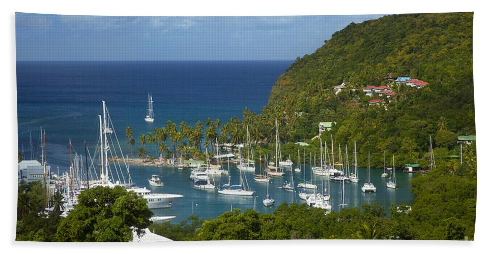 Saint Beach Towel featuring the photograph St Lucia by Brian Jannsen
