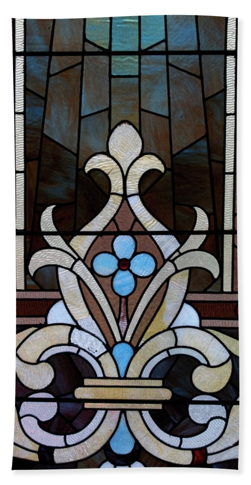 Glass Art Beach Towel featuring the photograph Stained Glass Lc 03 by Thomas Woolworth