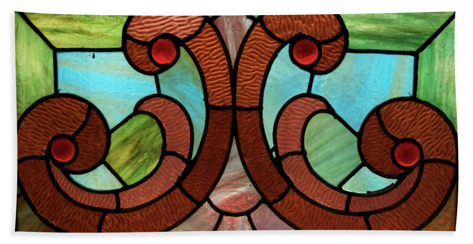Glass Art Beach Towel featuring the photograph Stained Glass Lc 05 by Thomas Woolworth