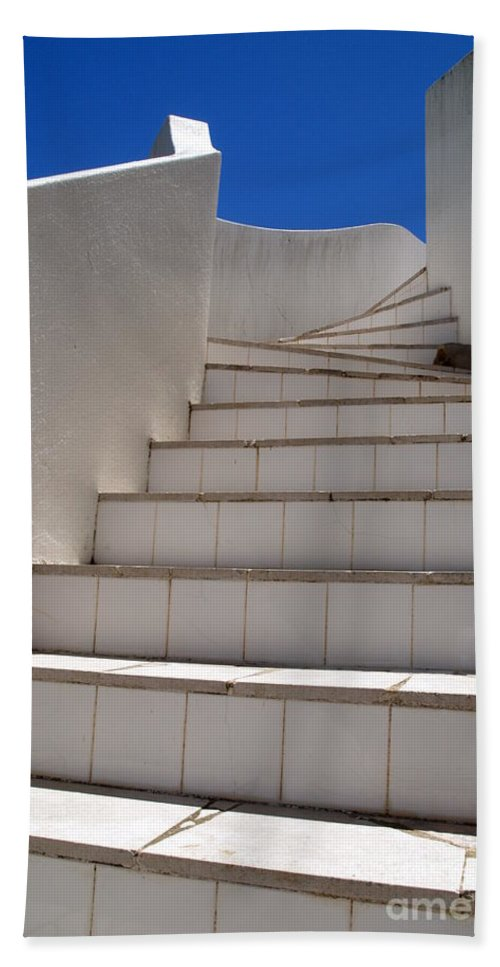 Stairs Beach Towel featuring the photograph Stair To The Sky by Michael Canning