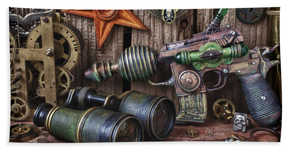 Steampunk Beach Towel featuring the photograph Steampunk Still Life by Garry Gay