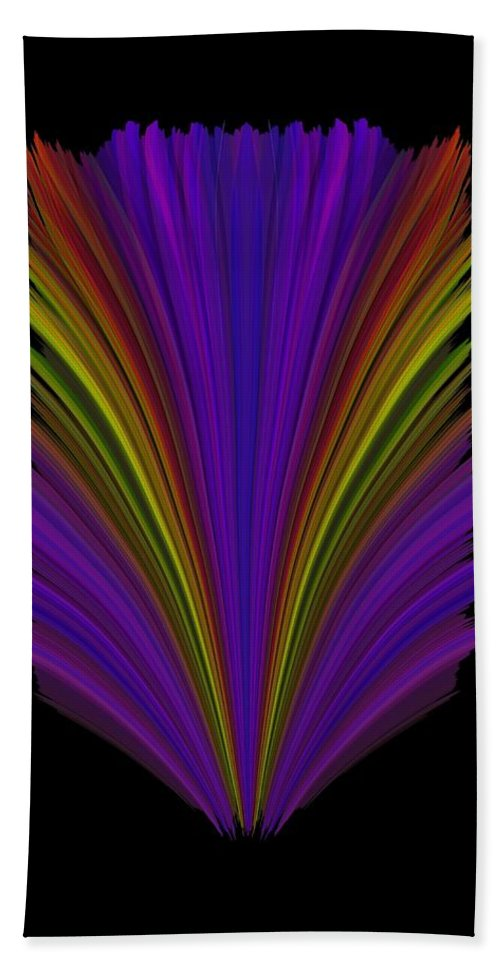 Abstract Beach Towel featuring the digital art Steppin Out by Tim Allen