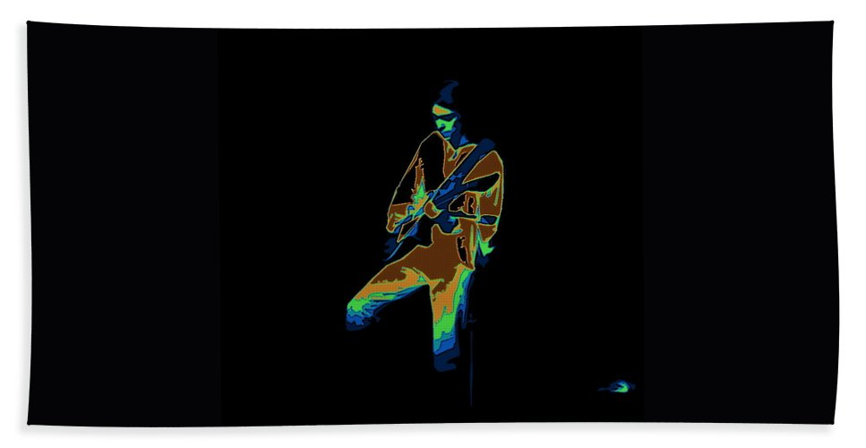 Genesis Beach Towel featuring the photograph Steve Hackett Cosmic by Ben Upham